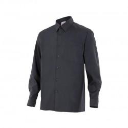 Camisa popelin 1 bolsillo manga larga