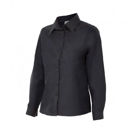 Camisa señora popelin 1 bolsillo manga larga