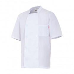 Chaqueta de cocinero manga corta, popelin