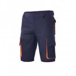 Pantalón corto de trabajo bicolor