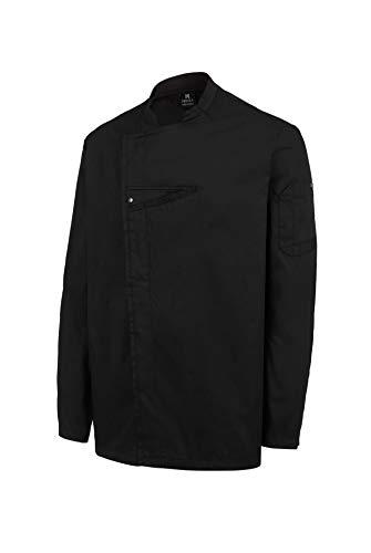 Chaquetilla Cocinero Hombre de Manga Larga con Corchetes. Ropa Cocina/Hostelería. Color Negro. Talla M. Ref: 4122