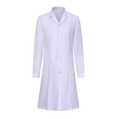 MISEMIYA - Bata Laboratorios Unisex Uniforme Laboral CLINICA Hospital Limpieza Ref:901 - XXL, Blanco