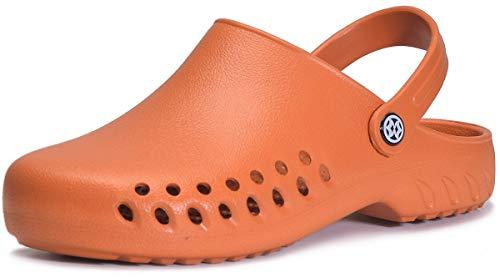 Gaatpot Mujer Zuecos Sanitarios y de Hostelería Hombre Calzado Zapatillas de Playa Ahueca hacia Fuera Las Sandalias Chanclas de Verano Amarillo 37EU