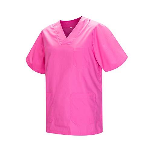 MISEMIYA - Casaca Unisex MÉDICO Enfermera Uniforme Limpieza Laboral ESTÉTICA Dentista Veterinaria Sanitario HOSTELERÍA - Ref.817 - L, Rosa