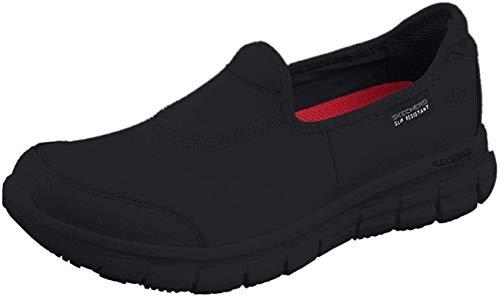 Skechers Sure Track, Zapatos de Trabajo Mujer, Negro (BBK Black Leather), 38 EU