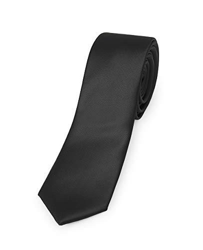 Corbata Estrecha Lisa Satinada. Color Negro. Ropa Camarero/Hostelería. Ref: 3312