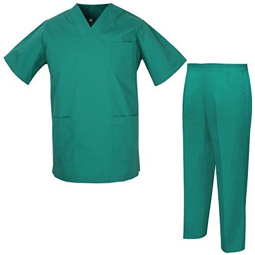 MISEMIYA - Pijama Sanitario Unisex Uniformes Sanitarios Uniformes Médicos 817-8312 - XS, Casaca Sanitarios 817-3 Verde