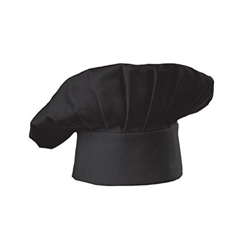 ULTNICE Restaurante de Cocina de Estilo Hongo Gorro de Cocinero Gorro de Cocinero (Negro)