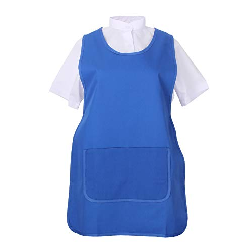 MISEMIYA - Delantal Limpieza Uniforme Laboral CLINICA MÉDICOS Limpieza Veterinaria Sanitarios HOSTELERÍA- Ref.868 - L, Azul