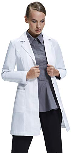 Dr. James Bata de Laboratorio Mujer, Corte Entallado, Diseño Femenino (34 (S))