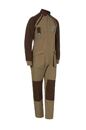 Mono de Trabajo Bicolor Manga Larga. con Cremallera. Soldador/Jardinero/Mecánico. Color Marrón Beige Talla 48-50. Ref: 1128
