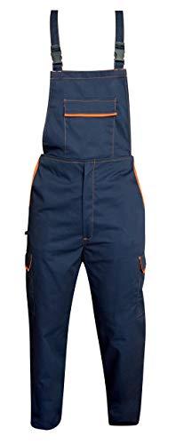Mono de trabajo para hombre y mujer con múltiples bolsillos Azul y naranja. M