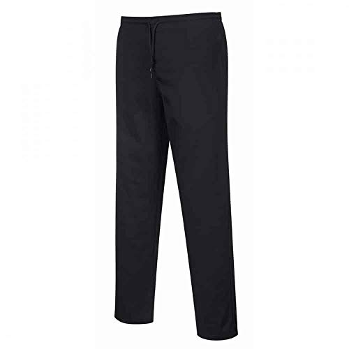 Carbonn A1000 - Pantalones de cocina elásticos Negro 3XL