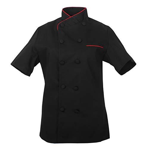 MISEMIYA - Chaquetas Chef Uniforme COCINERA MARMINTÓN SOLLASTRE GUISANDERO ADOBADOR Salsero- Ref.8441 - M, Negro