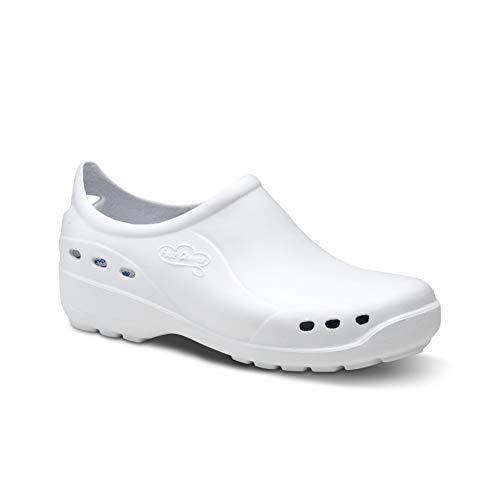 Feliz Caminar - Flotantes Shoes, Zapato Sanitario, Blanco, 38 EU