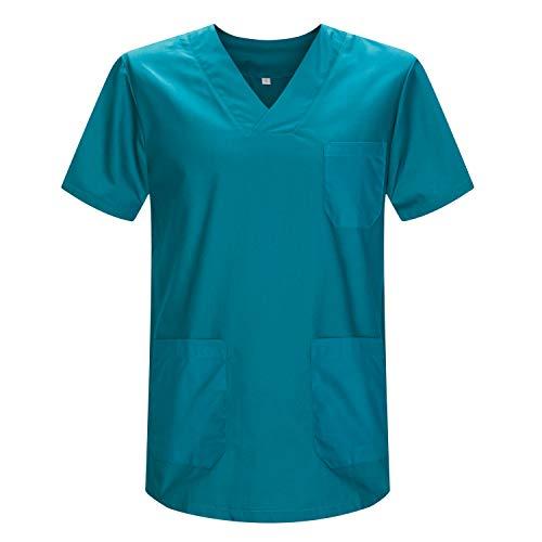 MISEMIYA - Casaca Unisex MÉDICO Enfermera Uniforme Limpieza Laboral ESTÉTICA Dentista Veterinaria Sanitario HOSTELERÍA - Ref.817 - XS, Verde 3B