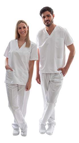 Uniforme Sanitario Unisex Ropa Trabajo Pijama Medico Casaca Enfermero Estetica Peluqueria Veterinaria Hospital Limpieza y Empleado Hogar Antilejía y No Destiñe - 4XL