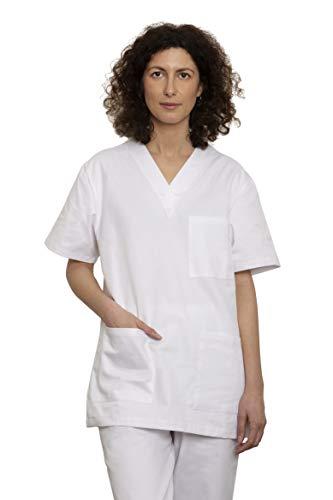 Uniforme Sanitario Pijama Conjunto Casaca Y Pantalón Unisex Hombre Y Mujer | Uniforme Hospitalario 100% Algodón Sanforizado | para Médicos, Enfermeros, Personal Sanitario, Veterinarios, Esteticistas