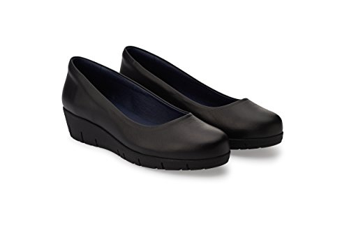 Oneflex Camile Negro - Zapatos anatómicos cómodos para Mujer - Calzado hostelería Antideslizante de Piel - Talla 36