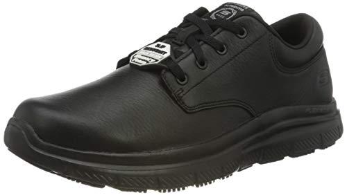 Skechers Flex Advantage Sr Fourche, Zapatos de Vestir par Uniforme Hombre, Black, 40 EU