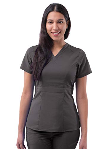 Adar Pro Prendas médicas para Mujer Casaca Sanitaria a Medida - P7004 - Pewter - 2X