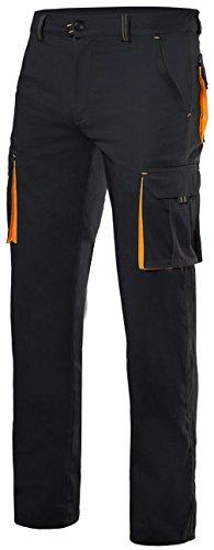 Velilla 103008S/C0-19/T34 Pantalones, Negro y naranja fluorescente, 34