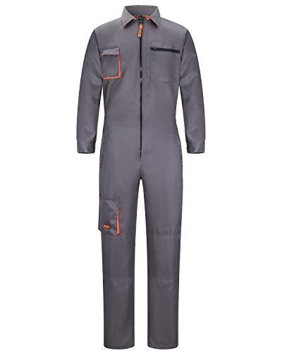 Yukirtiq Pantalones con Peto de Trabajo para Hombre, Ropa de Trabajo Mono de Trabajo para Mecánicos, para jardín y Garaje, para Mantener Limpio