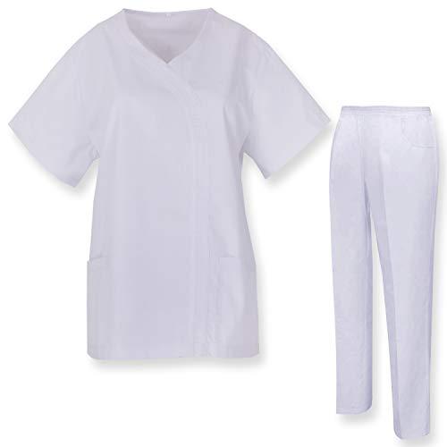 MISEMIYA - Casaca Y PANTALÓN Mujer Uniformes Sanitarios Uniformes MEDICOS CLINICAS Estética Médico Casaca Y PANTALÓN Ref.Q81198 - XS, Blanco