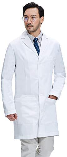 Dr. James Bata de Laboratorio Hombre, Corte Semientallado, Bolsillos para Teléfonos Inteligente y Tabletas DR11-S
