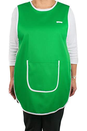 Delantal - Pichi Maestra Infantil Limpieza - Bata o Estola Laboral Clínica Médicos Sanitarios Hostelería - Casulla con Dos Bolsillos Ajustable (Verde)