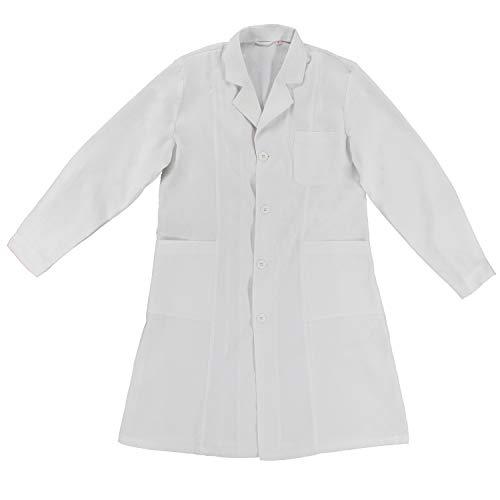 MISEMIYA - Bata Laboratorios Unisex Uniforme Laboral CLINICA Hospital Limpieza Ref:901 - XS, Blanco
