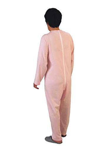 Rekordsan - Pijama Antipañal Geriátrico de Algodón para Mujer, Talla 4, Rosa