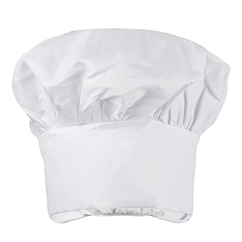 Gorro de Chef Gorro Cocinero Adulto Blanco con Elástico