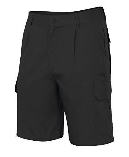 Velilla 344/C0/T46 - Bermuda multibolsillos (talla 46, moderno) color negro