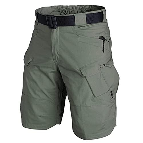 Zhantie 2021 actualizado impermeable pantalones cortos de carga de los hombres ajuste relajado resistente al agua trabajo senderismo pantalones cortos actividades al aire libre