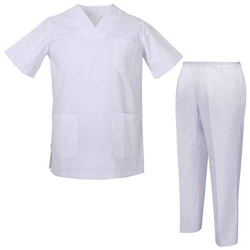 MISEMIYA - Pijama Sanitario Unisex Uniformes Sanitarios Uniformes Médicos 817-8312 - M, Casaca Sanitarios 817-2 Blanco