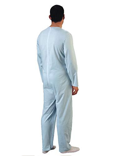 Rekordsan Pijama Antipañal Geriátrico Classic Hombre en Fresco Algodón con 1 Cremallera, Talla 4, Pack de 1