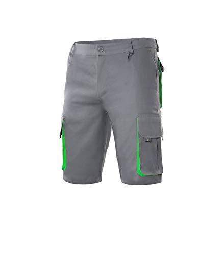 VELILLA - Bermuda Bicolor Multibolsillos 103007 Hombre Gris-Verde 48