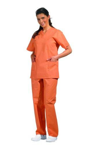 Pantalón de quirófano con goma, unsiexo (0 (D=34/36 - H=40/42), naranja)