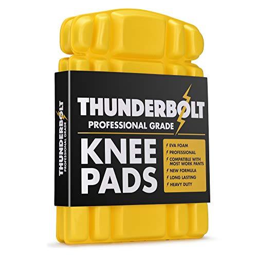 Thunderbolt Rodilleras para insertos de trabajo para pantalones pantalones ropa de trabajo con acolchado de espuma EVA gruesa