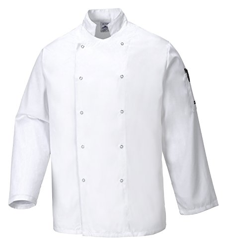 Portwest C833WHRXL Chaqueta de Chef, Suffolk , XL, Blanco (White)