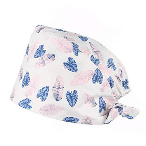 GEMVIE Gorro de Quirófano - Lavable- Robin Hat - Pelo Largo - Ajustable - Estampado -100% algodón Sombreros Mujer