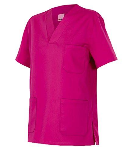 Velilla 589/C23/T4 Camisola pijama de manga corta con escote en pico, Fucsia, 4