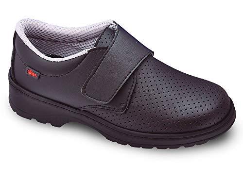 Milan-SCL picado Color Negro Talla 38, Zapato de Trabajo Unisex Certificado CE EN ISO 20347 Marca DIAN