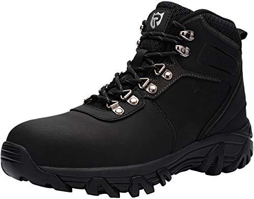Zapatos de Seguridad Hombre,SBP Sra Anti-Aplastante Anti-Punción Anti-Deslizante Reflectivo Calzados de Trabajo Botas de Seguridad,44 EU,Negro