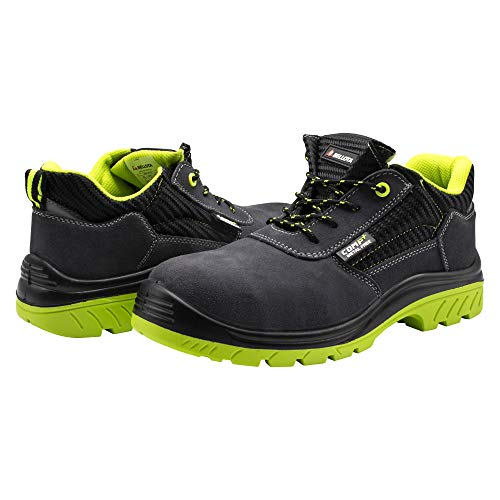 Bellota 7231043S1P Zapato de Seguridad, Negro, Verde, 43