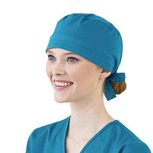 Riou Gorro Quirofano para Hombres y Mujeres Pelo Largo Corto Médico Enfermera Reutilizable Gorro Quirúrgico Algodón Vendaje Ajustable Gorro de Cirugía