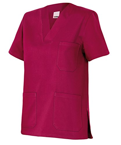 Velilla 589/C67/T4 Camisola pijama de manga corta con escote en pico, Burdeos, 4
