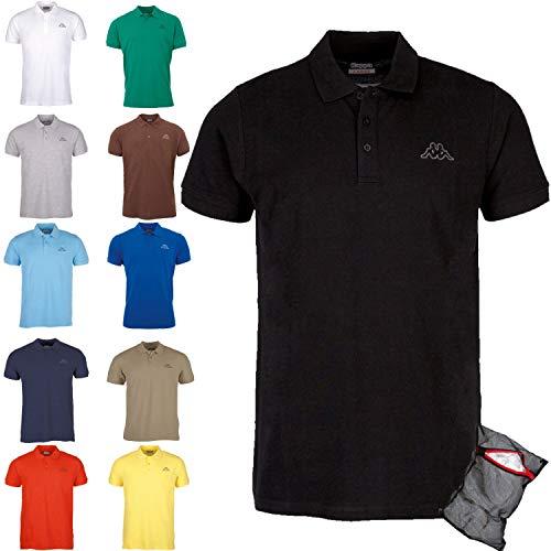 Kappa Polo Clásico Edición ZiATEC con práctica Bolsa de lavandería | Camisa de Golf básica de Mangas Cortas, Mezclas en Muchos Colores, tamaño:5XL, Color:1 x Marina