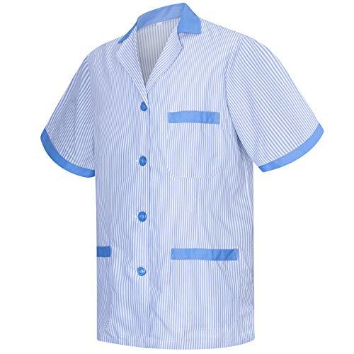 MISEMIYA - Casaca Camisa Camisetas Mujer Uniformes Laboratorios Uniformes Medicos Clinica Veterinarias Ref.T820 - M, Camisa Sanitarios T820-4 Celetes